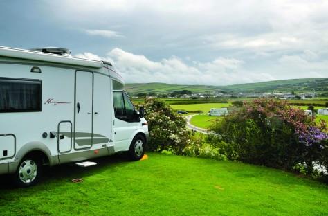 Camping met fraai uitzicht aan de westkust van Cornwall